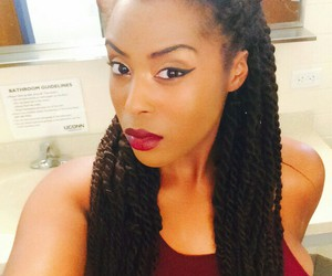 black woman, braids, and swag image