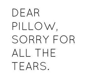 tears, pillow, and sad image