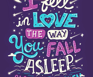 love, asleep, and quote image
