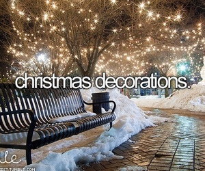 christmas, snow, and decorations image