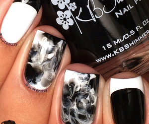 black and white and nails image