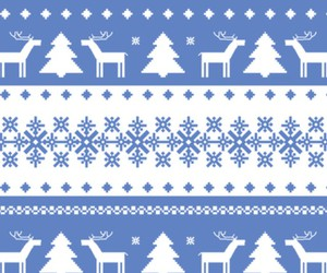 blue, christmas, and reindeers image