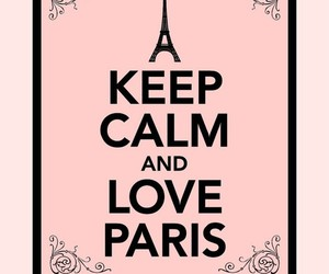 paris, keep calm, and pink image