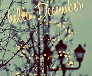 december, lights, and winter image