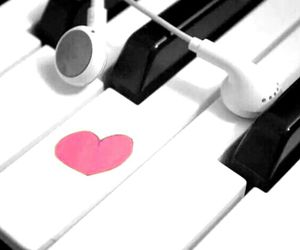 headphones, piano, and cute image