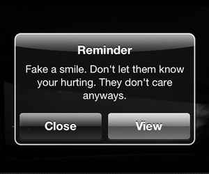 fake, smile, and hurting image