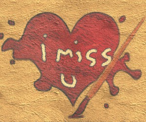 heart, i miss you, and painting image