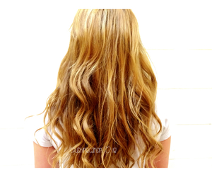 wavy, blonde, and hair image