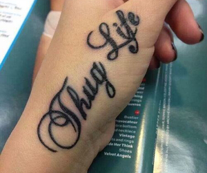 tattoo, thug, and thug life image