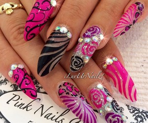 colorful and nails image