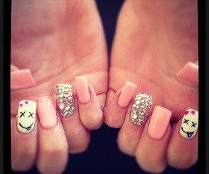 nails, pink, and smile image