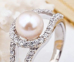 pearls, ring, and rings image