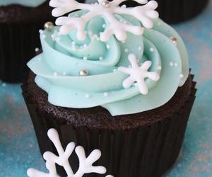 cupcake, winter, and snowflake image