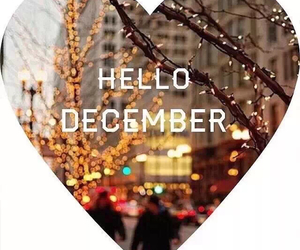 december, heart, and hello image