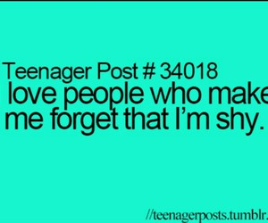 teenager post, shy, and quote image