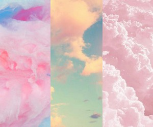 background, clouds, and pretty image