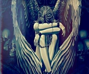 angel, art, and weeping image