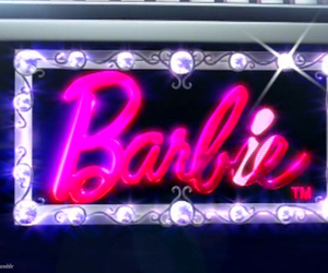 barbie, pink, and sparkle image
