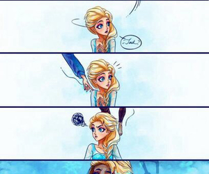 elsa, frozen, and jack frost image