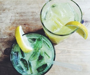drink, lemon, and summer image