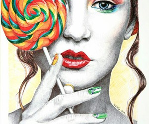 draw, art, and lollipop image