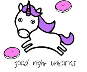 good night and unicorns image