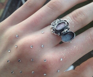 glitter, grunge, and ring image
