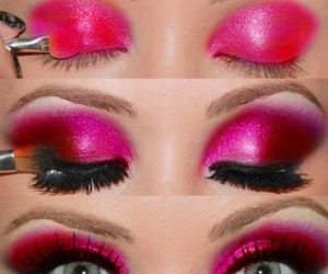 baby pink, barbie, and eyeshadows image