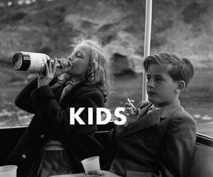 kids, cigarettes, and drink image