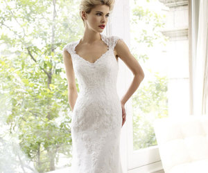 wedding dress, dress, and fashion image