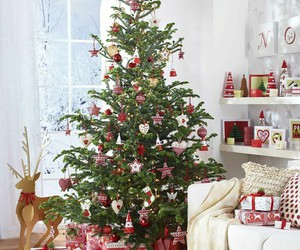 christmas, tree, and decorations image