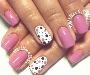 blanco, nails, and pink image