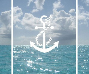 wallpaper, anchor, and sea image