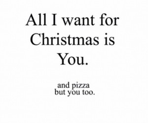 love, christmas, and pizza image