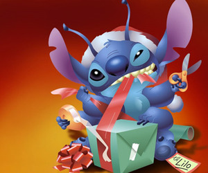 christmas, stitch, and disney image