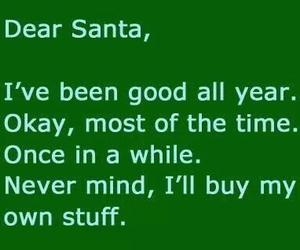 santa, christmas, and good image