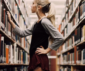 library, pretty, and fashion image