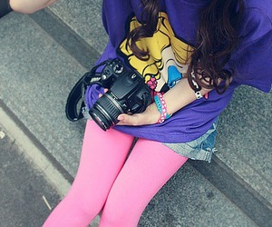 camera, fashion, and hair image
