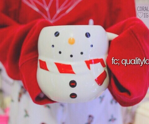 christmas, snowman, and red and white image