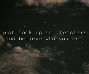 stars, quote, and believe image