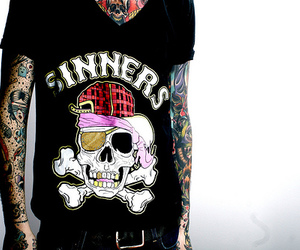 tattoo, skull, and sinners image