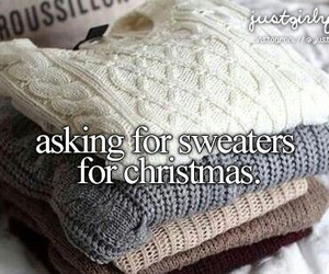 christmas, sweater, and just girly things image