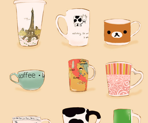 art, coffee, and cup image