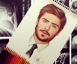 drawing and zac efron image