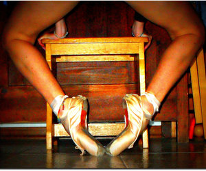 dance and pointe shoes image