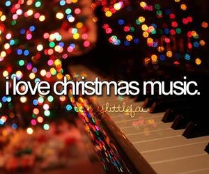 christmas, music, and love image