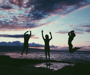 friends, summer, and beach image