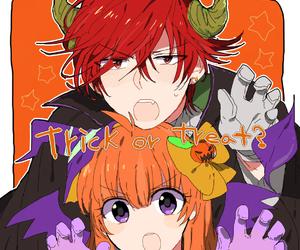 anime girl, anime boy, and chiyo sakura image