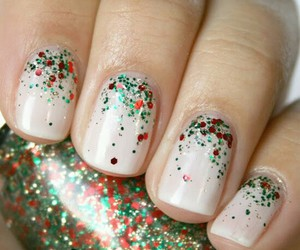 cool, glitter, and nails image