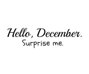 january, december, and surprise image